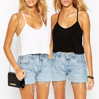 ASOS The Ultimate Crop Cami 2 Pack Save 20%