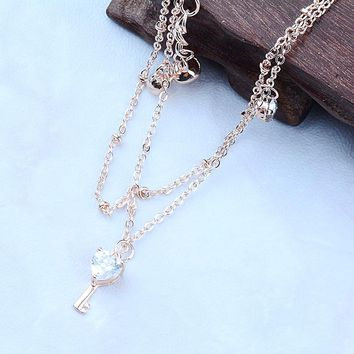 H:HYDE HOT Little Bell Anklet Bracelet Rose Gold Titanium Steel Women Girl Lover Barefoot Anklet Fashion Foot Chain Jewelry