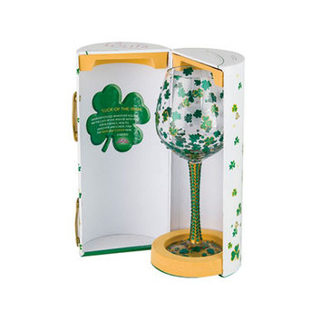 Lolita Luck of the Irish Wine Glass