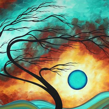 Original Bold Colorful Abstract Landscape Painting FAMILY JOY I by MADART Painting by Megan Duncanson - Original Bold Colorful Abstract Landscape Painting FAMILY JOY I by MADART Fine Art Prints and Posters for Sale