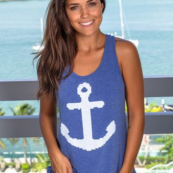 Royal Blue Anchor Top