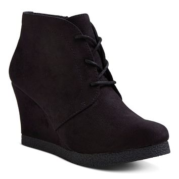 Women's Terri Lace Up Wedge Booties : Target