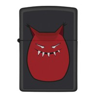 Red Evil Monster With Pointy Ears Zippo Lighter