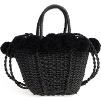 Topshop Sia Pom Straw Shopper Bag | Nordstrom