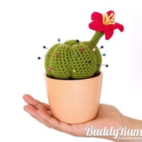 Cactus pincushion crochet amigurumi decoration Finished item Ready to ship