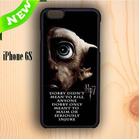 Dream colorful Deathly Hallows Dobby Harry Potter Quote iPhone 6S Case