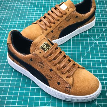 Mcm X Puma Suede Classic Tan Sneakers - Best Online Sale