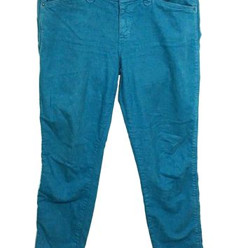 Joes Jeans Ankle Cigarette Marine Wash Aqua Stretch Women's Tag 29 Actual 31x28 - Preowned