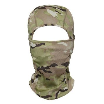 Sports Hat Cap trendy  Camouflage Multicam Cp Tacitcal Military Army Balaclava Airsoft Snowboard Bicycle Sports Winter Hats Helmet Full Face Mask KO_16_1