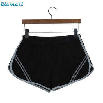 Womail 7 Colors Woman Girls Jogging Yoga Running Shorts Gifts Summer Women  Shorts Gym Workout Waistband Yoga Short Pants 1PC