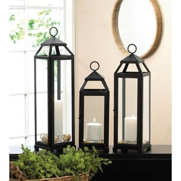 Medium Large and Extra Large Lean & Sleek Candle Lanterns
