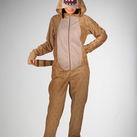 The Regular Show Rigby Hooded Footed Adult Pajamas