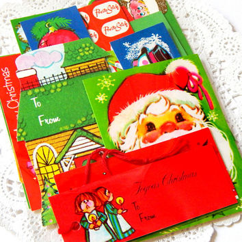 Vintage Christmas Gift Tags. Paper Ephemera. Christmas Ephemera. Gift Label. Christmas Tag. Christmas Wrapping. Embellishment. Gift Tag.