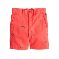crewcuts Boys Stanton Short With Embroidered Iguanas