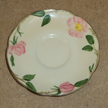Franciscan Vintage Tea Saucer 5 3/4in Floral Desert Rose USA Earthenware -- Used