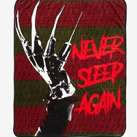 A Nightmare On Elm Street Never Sleep Again Throw Blanket
