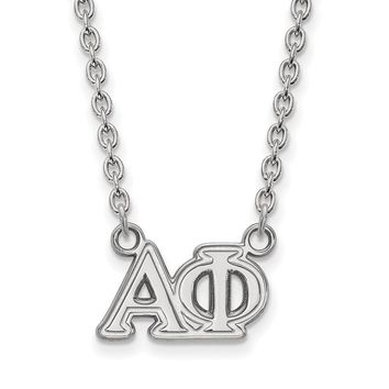 Sterling Silver Alpha Phi Medium Necklace