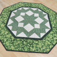 St Patrick's Day Quilted Table Topper 419
