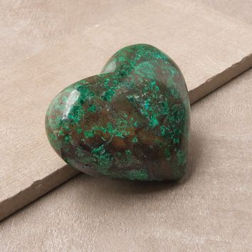 Chrysocolla Healing Heart - One of a Kind