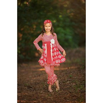 Fall Serendipity Christmas Winter Wonderland Dress W/Legging