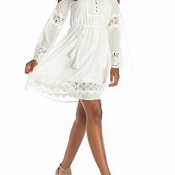 Fashion On Earth Off The Shoulder Inset Dress