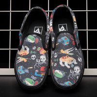 Trendsetter Vans Print Old Skool Flats Sneakers Sport Shoes