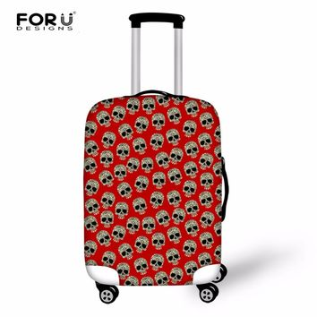 FORUDESIGNS Vintage Punk Skull Printed Luggage Protective Covers Waterproof Thick Luggage Cover for 18-30 Inch Travel Suitcase