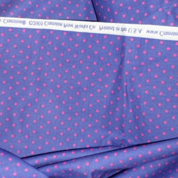 Fabric By The Yard/2005 Cranston Print Works-Quilting Treasures/Purple N Pink Dots 100 Percent Cotton Fabric/Six plus Yards/43 Inch Width