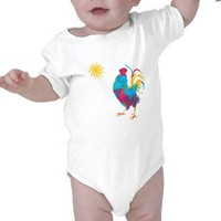 Farm Colorful Pet Rooster Tee Shirts from Zazzle.com