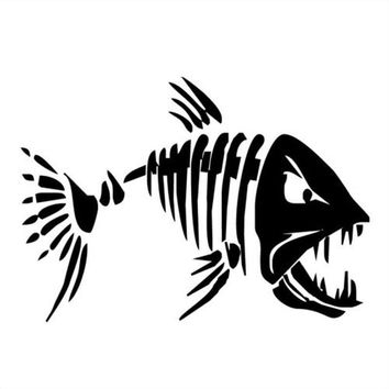 17.8*12.6CM Mad Fish Funny Decal Car Window Decoration Vinyl Stickers Motorcycle Accessories C4-0750