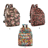 PenBangs — Flower Print Canvas Backpack with Free Gift