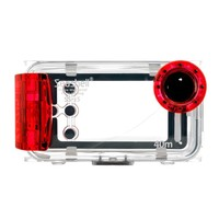 Seashell Waterproof Photo Housing Underwater Case for iPhone 5, 5s and 5c - Red