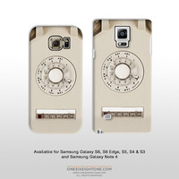 Samsung Galaxy S6 Edge S5 & Note 4 retro telephone case. Featuring a vintage rotary telephone for samsung galaxy s4 s3 FP105