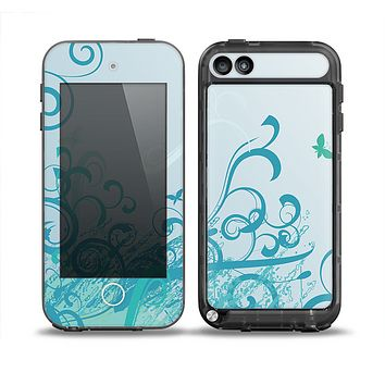 The Escaping Butterfly Floral Skin for the iPod Touch 5th Generation frē LifeProof Case