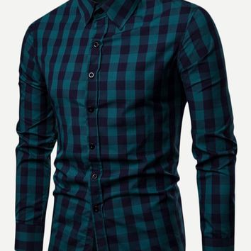Men Plaid Shirt
