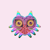 Ancient Mask Pin - Holographic from Just Peachy