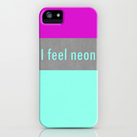 Concrete & Neon iPhone & iPod Case by no.216
