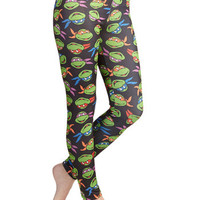 ModCloth Quirky Skinny Heroes in a Half-Shell Leggings
