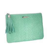 Mint All in One Bag | Embossed Python Leather | GiGi New York