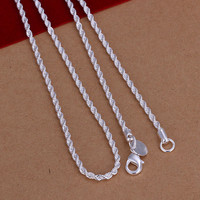 2mm Flash Twisted Rope Chain-18""