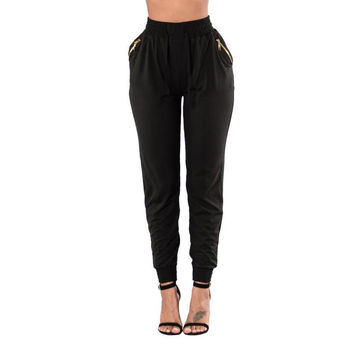 Casual High Waist Loose Pants Trousers