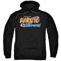 Naruto Shippuden Logo Licensed Adult Hoodie