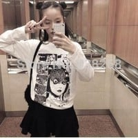 2015 summer harajuku punk vintage exclusive horror comics printed loose slim white short sleeve T shirt women wholesale-in T-Shirts from Women's Clothing & Accessories on Aliexpress.com | Alibaba Group