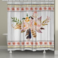 Tribal Flowers Shower Curtain