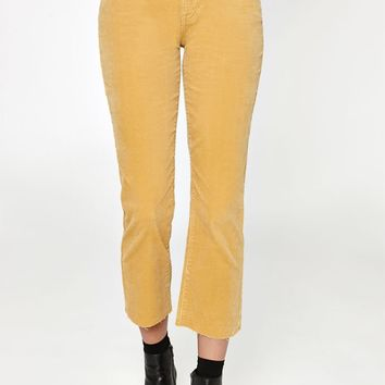 PacSun Mustard High Rise Crop Kick Jeans at PacSun.com