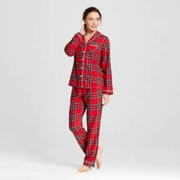 Women's Flannel Notch Collar Pajama Set - Gilligan & O'Malley™
