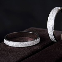 Free Engraving-Platinum Rings his and hers Promise Rings meticulous Polished surface Couple Wedding Bands set matching rings