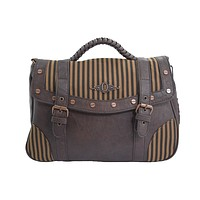 Vintage Steampunk Brown Black Stripes Wild West Steampunk Handbag
