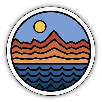 Mountains Range Water Sticker