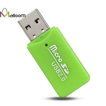 LMFIJ5 2017 High Speed Mini USB 2.0 Micro SD TF T-Flash Memory Card Reader Adapter Micro In Mobile Phone Cable#20